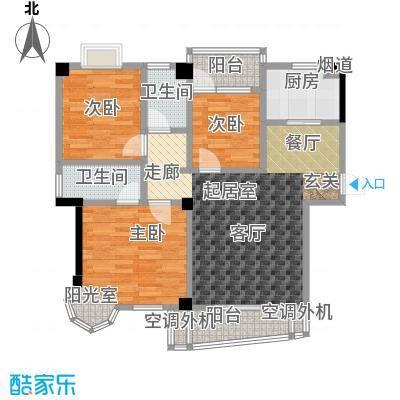西城龙庭122.00㎡面积122�户型