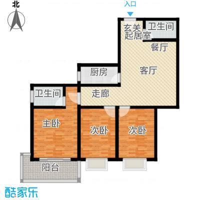 大华锦绣户型3室2卫1厨