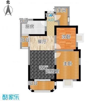 香克林小镇91.63㎡10#楼2单元11#楼2单元户型