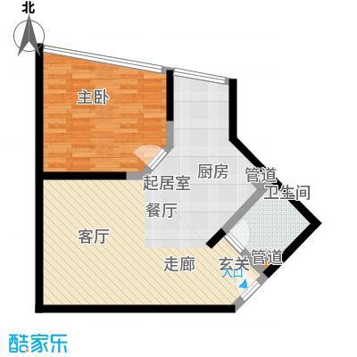 新洲阳光64.04㎡房型户型