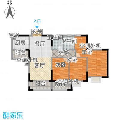 鼎盛时代广场户型3室1厅2卫1厨