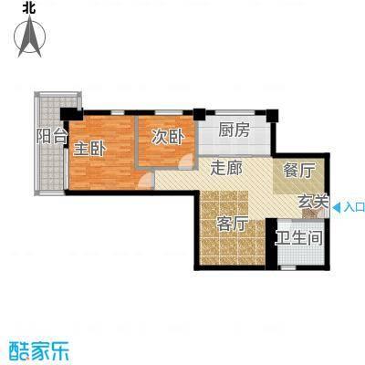中天国际公寓90.00㎡户型