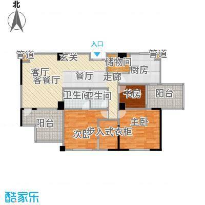 谋房博客87.86㎡错层书房、客厅带超大阳台户型