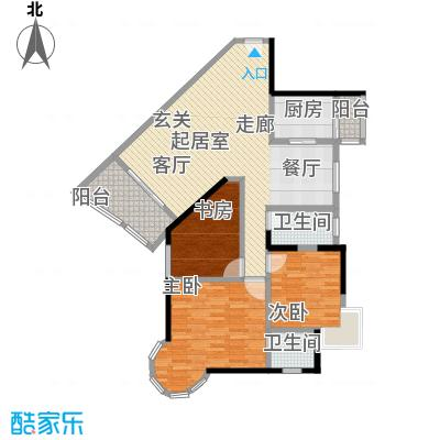 渝安龙都200582.52㎡房型户型