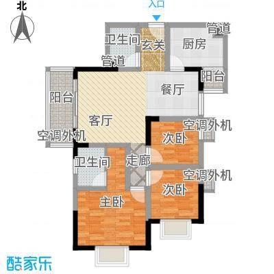 大川国际86.41㎡房型户型