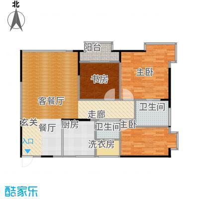 顶福天际户型3室1厅2卫1厨