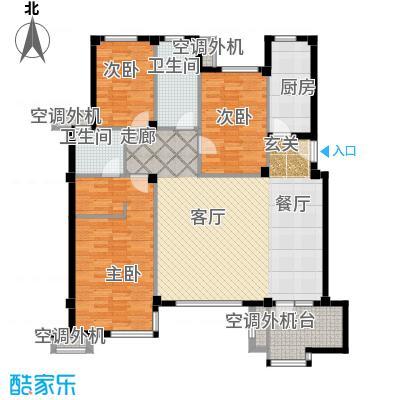 万科新榆公馆一期户型3室1厅2卫1厨
