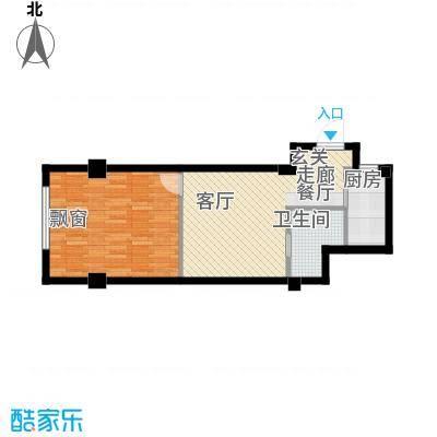 中河名庭50.00㎡户型