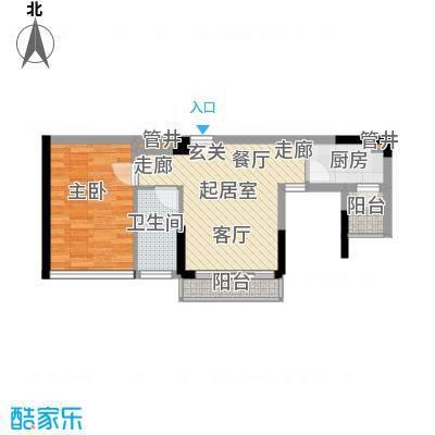 城建御筑轩58.00㎡D、E栋D2-E2户型