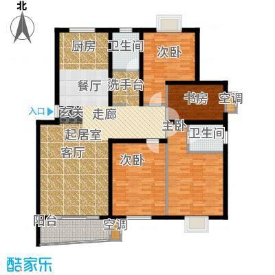 旭升花苑户型4室2卫