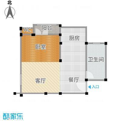 蓝筹谷51.00㎡54m2户型