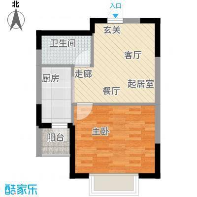 融城时代二期46.00㎡房型户型