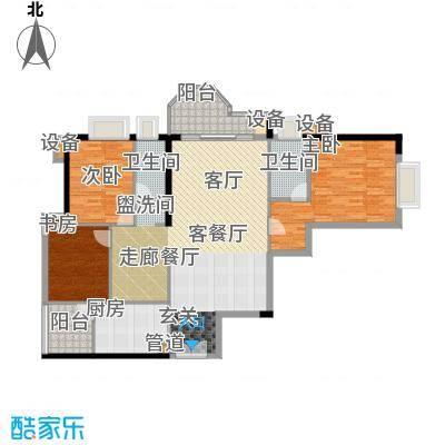 珠江广场双阳台户型