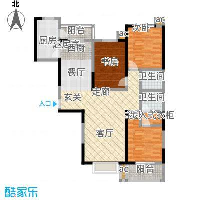 军蔷苑133.29㎡B户型