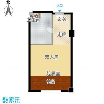 武汉豪生国际酒店61.35㎡ST房型户型