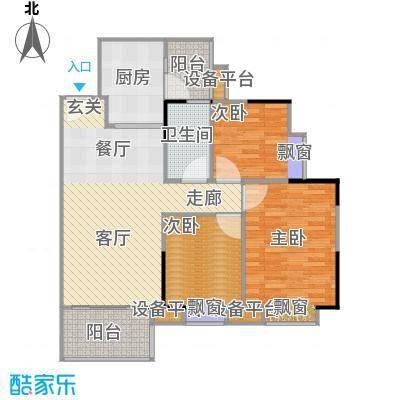 江南新苑92.14㎡F5栋18-22层01单元户型