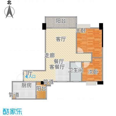 南峰时代广场户型2室1厅1卫1厨