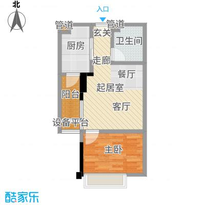 康田国际38.92㎡户型