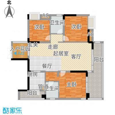 鹏基万林湖生态美墅139.87㎡和院三组团J区D3户型