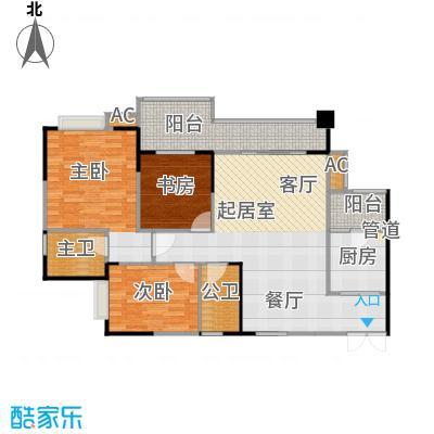 光华阳光水城・熙地88.62㎡房型户型
