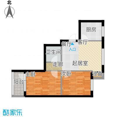 新港假日户型2室1卫1厨