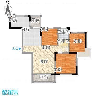 益田御水丹堤109.00㎡三居户型