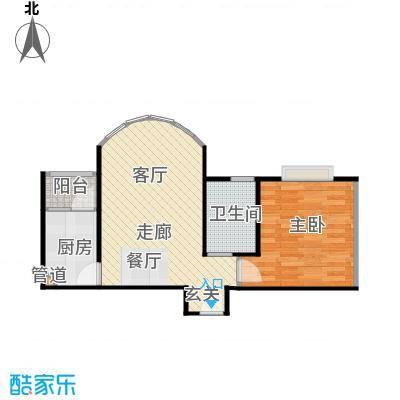 大川花园户型1室1卫1厨