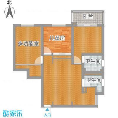 金龙花苑玫瑰园三室两厅