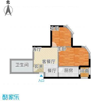 开建阳光馨苑户型2室1厅1卫1厨