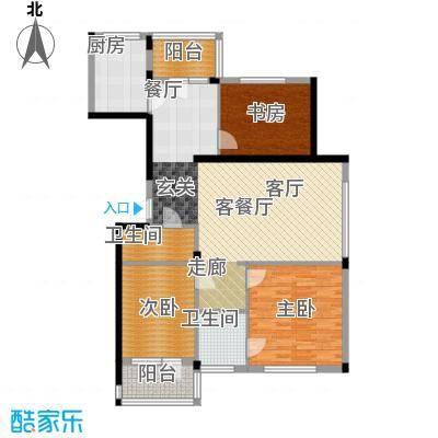 熙园户型3室1厅2卫1厨