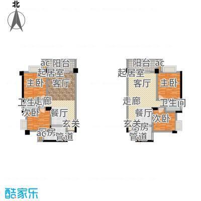 中江国际花城户型4室2卫2厨