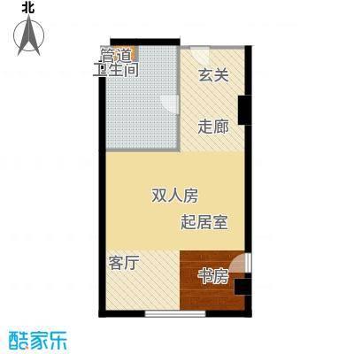 武汉豪生国际酒店62.62㎡ST*房型户型