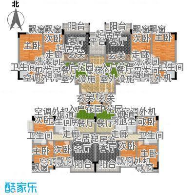 金叶阳光新城90.02㎡01/02户03/04户户型