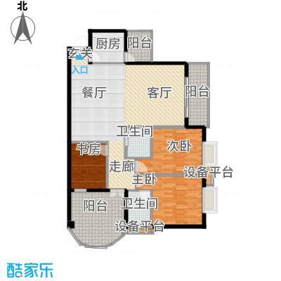 新城绿洲108.18㎡房型户型