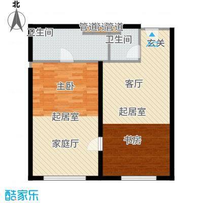 武汉豪生国际酒店117.22㎡SS-0型户型