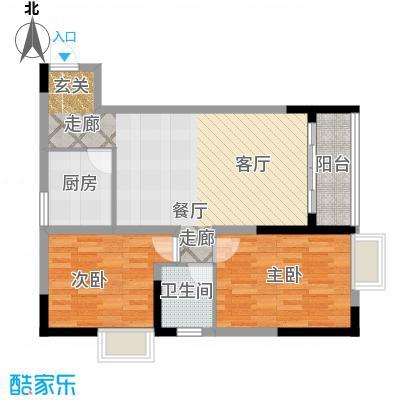 轻港佳苑59.89㎡房型户型