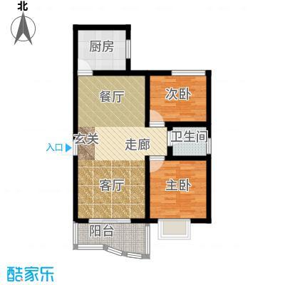 海德福苑户型2室1厅1卫1厨