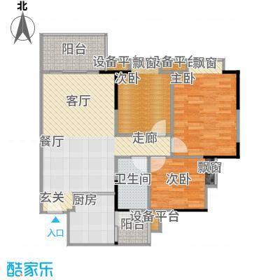 江南新苑90.96㎡F5栋3-17、23-33层05单元户型