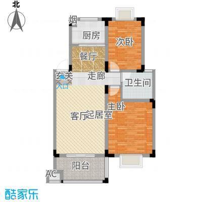 三江・花中城户型2室1卫1厨