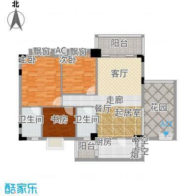 东方水岸119.00㎡6座04单元2-11层04单元/+++入户花园户型