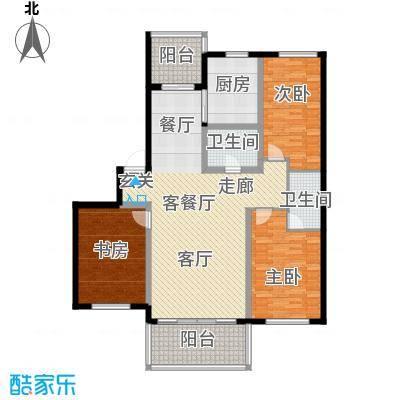 富都丽景户型3室1厅2卫1厨