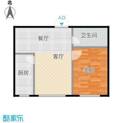 幸福岛54.00㎡房型户型