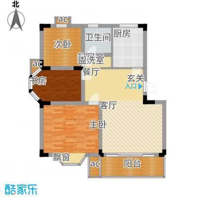 兰亭雅苑90.00㎡9867m2户型