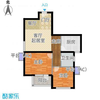 水晶公寓80.00㎡户型