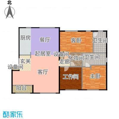 锋尚国际公寓户型2室2卫