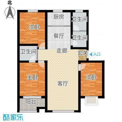 中阳信和水岸户型3室1厅3卫1厨