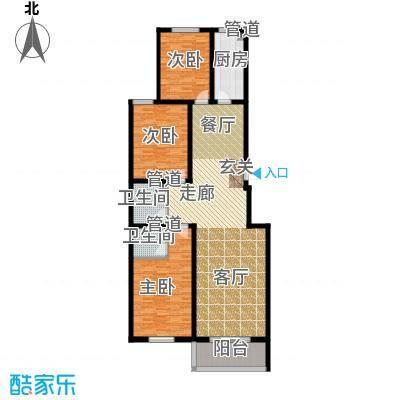 水木青城三期户型3室1厅2卫1厨