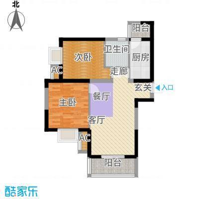 锦翔梧桐坊82.34㎡F户型