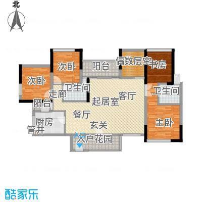 城建御筑轩135.00㎡A栋A1户型