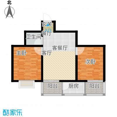 锦尚祥福居87.55㎡户型